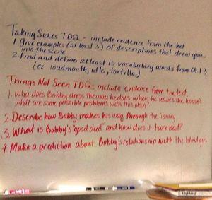 Sue Hannan's white board