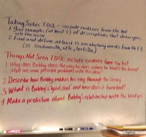 Sue Hannan's white board